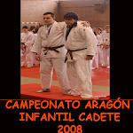CAMPEONATO ARAGÓN INFANTIL CADETE 2008