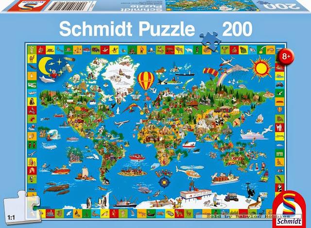 Sản phẩm Xếp hình Bản đồ Thế giới 200pcs mã 56118 được làm từ chất liệu giấy cao cấp
