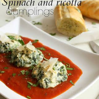 Spinach And Ricotta Dumplings.