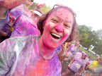 Julie enjoying the colors!