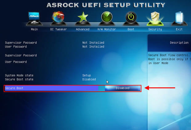 Asrock Secure Boot Disable