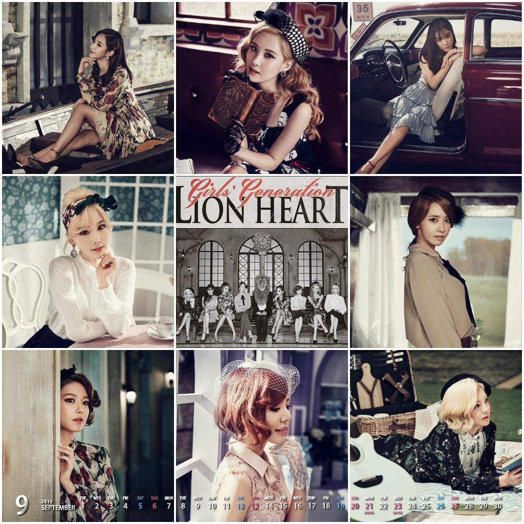 LionHeartの少女時代カレンダー1509