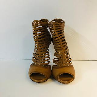 Gucci Leather Cage Stillettos