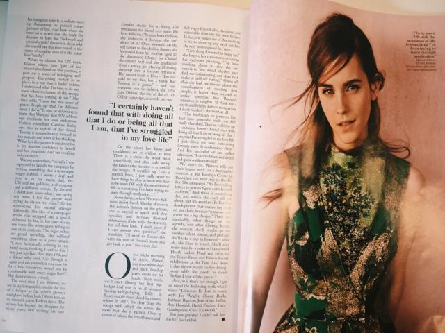 Vogue September 2015 Voice of a Generation; Emma Watson feature