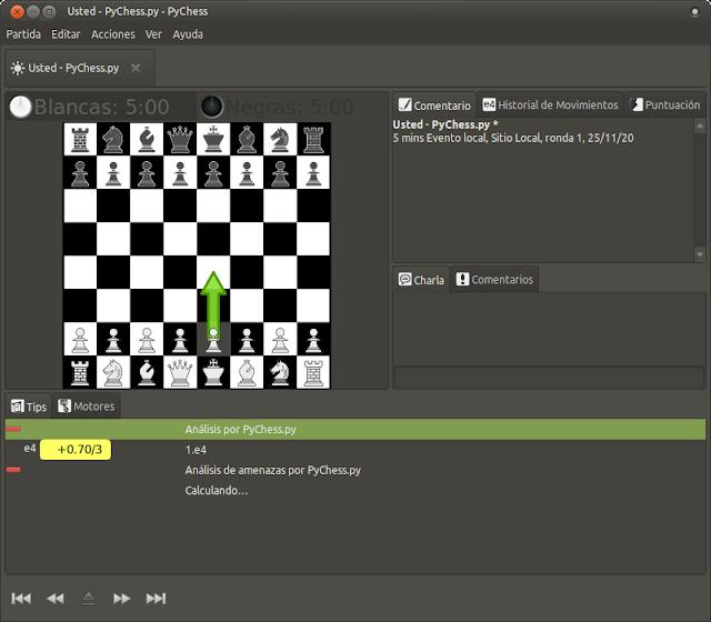 Los mejores juegos de ajedrez para Ubuntu y derivados - PyChess