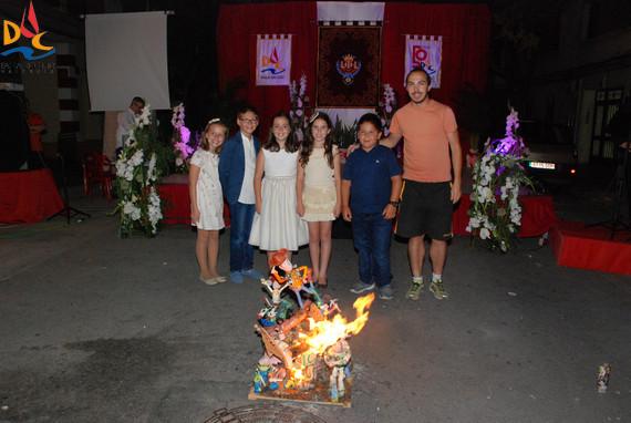 La maqueta ganadora del 1º Premio en 2013, nuestra hoguera de San Juan.