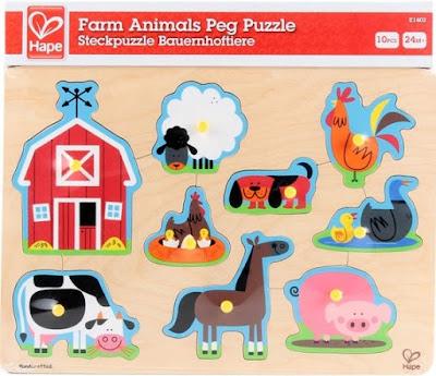 Đồ chơi Ghép hình Thú nuôi Nông trại Hape Farm Animals