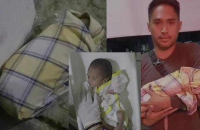 Berbalut Sarung Seorang Bayi Perempuan Ditemukan di Jalan Cumi-Cumi Pangkep