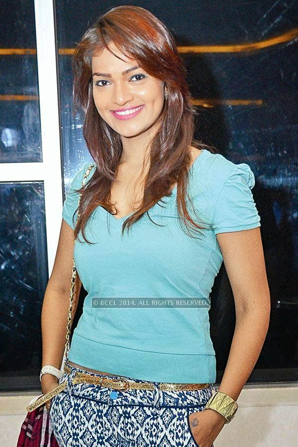 Ashwini during the screening of Salman Khan's latest film Kick, at a city multiplex.