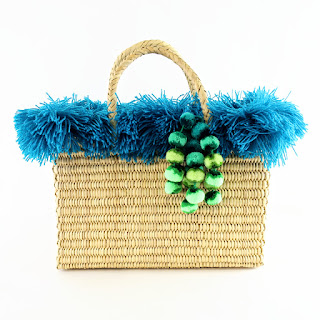 Nannacay Blue Yarn Trim Tote