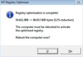 Optimizar el registro de Windows