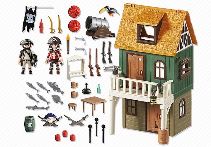Contenido real de Playmobil® 4796 Fuerte Pirata Camuflado con Ruby