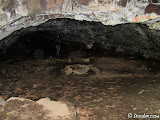 Looking back into the cave; the two individuals give perspective to the size of the cave.