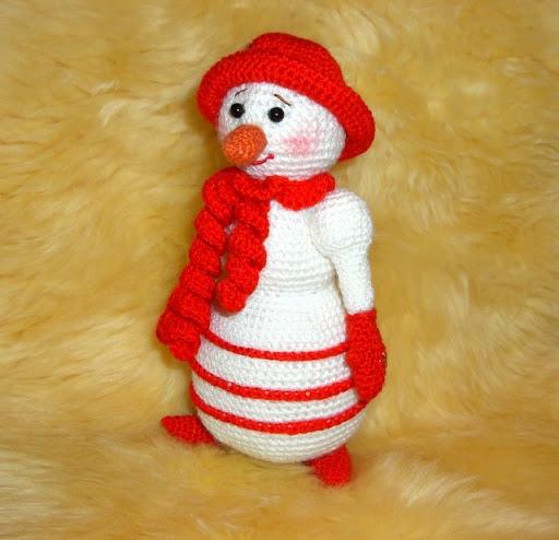 Örgü kardan adam  orgu oyuncaklar