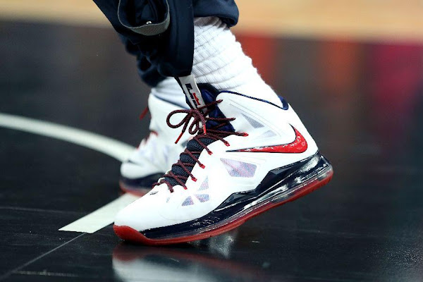 Additional Look at Nike LeBron X 10 USA Basketball PE