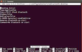 Deshabilitar el bluetooth automáticamente en Ubuntu - para un usuario