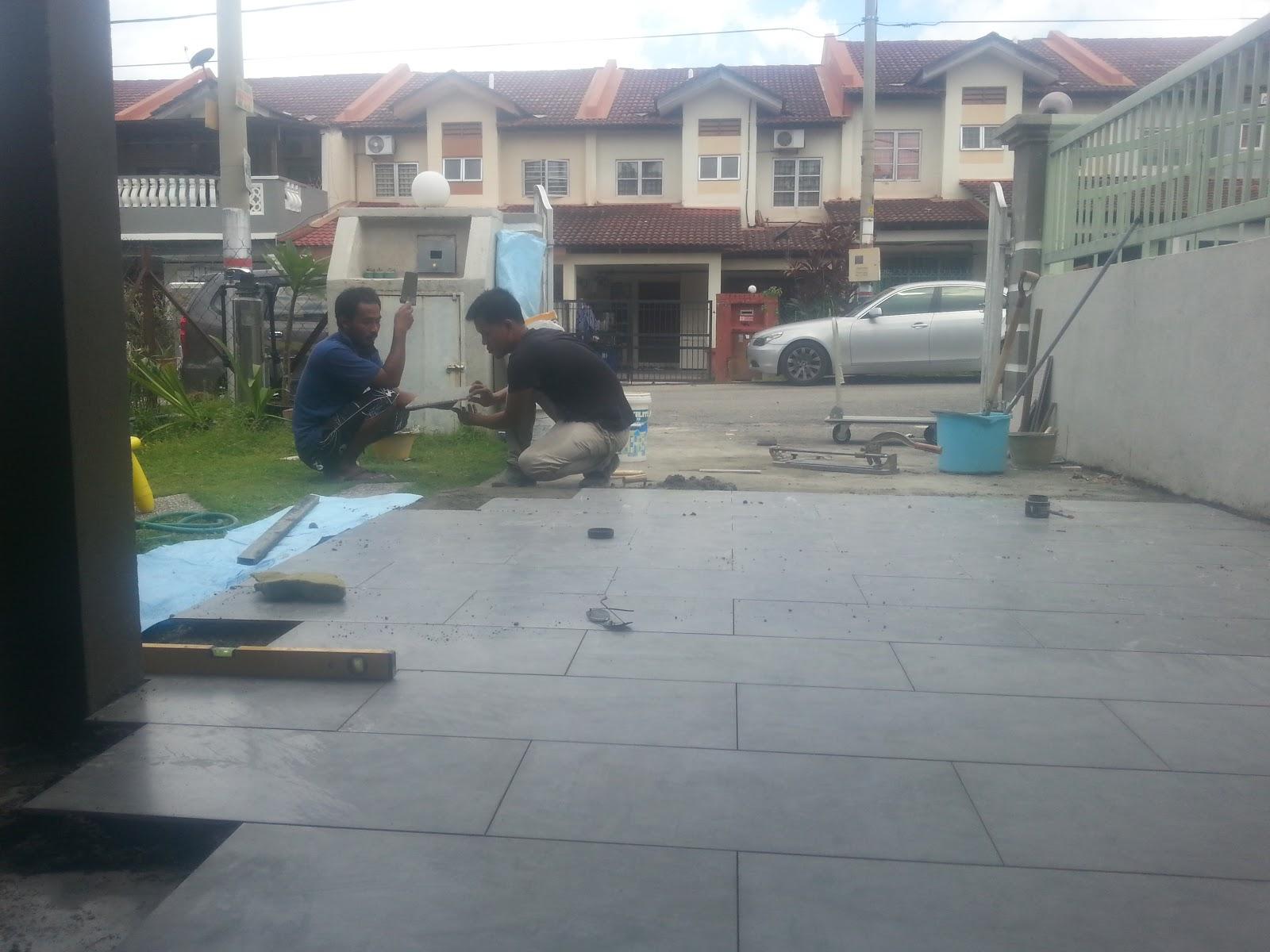 Pasang Tiles Kat Porch 1 2 Kaki Kat Saujana Impian Kajang