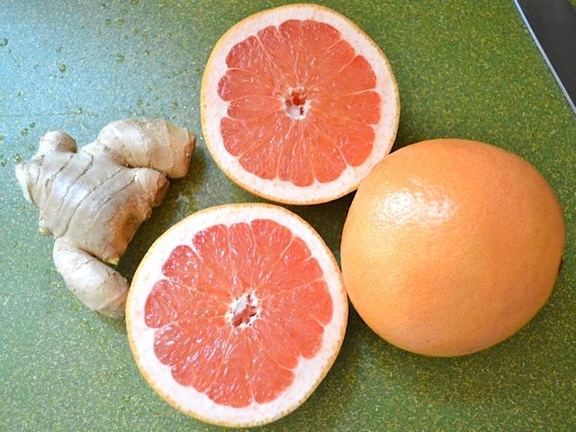 fresh ginger and grapefruit