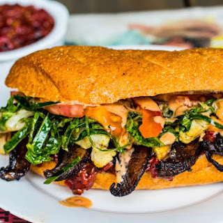 """""""Take a Look at Me Now"""" Vegan Hoagie Sandwich with Raspberry Sofrito and Chipotle-Coconut Dressing Recipe"""