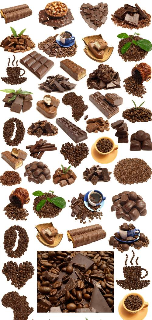 Stock Photo: Favourite coffee and chocolate