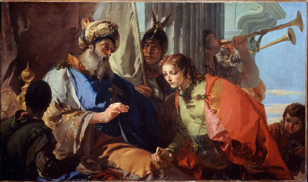 Giovanni Battista Tiepolo - Joseph receiving Pharaoh's Ring