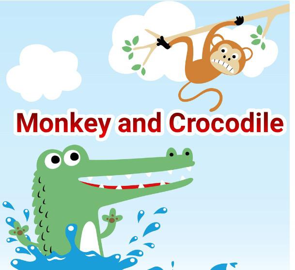 Monkey And Crocodile Story In Hindi | बंदर की कहानिया हिन्दी में