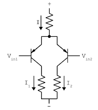 A differential pair circuit.