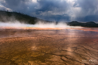 Photo: Storm @ Grand Prismatic, Yellowstone National Park, WY
