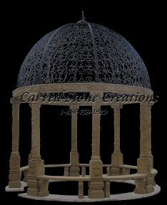 carved stone, Column, Dome, Exterior, Gallery, Gazebo, Gazebos, Landscape Decor