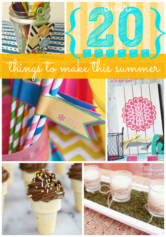 Over Twenty Things to make this Summer #feature @gingersnapcrafts.com_thumb[1]