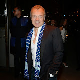 WWW.ENTSIMAGES.COM -    Graham Norton   arriving at        Mondrian London - hotel launch party at Mondrian London October 9th 2014New London hotel, designed by Tom Dixon and owned by Morgans Hotel Group, hosts VIP evening to mark its launch on London's South Bank in the iconic Sea Containers building next to the OXO Tower. The hotel features 359 rooms and suites, a spa, meeting spaces, riverside bar and brasserie.                                                Photo Mobis Photos/OIC 0203 174 1069