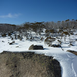 Blanket of snow on a boulder (299926)