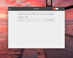 Configurar el hardware en GNOME. Bluetooth 2.