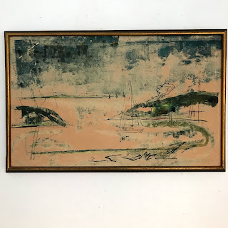 Alfred Birdsey Signed Mixed Media Painting