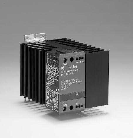 STATISK KONTAKTOR 24-480VAC. 5-24VDC 25A 90 MM