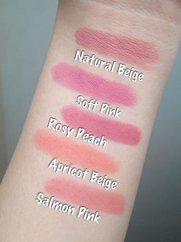 Maybelline Rosy Matte Lipsticks swatches