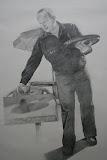 Albert - 55 x 85 cm - potlood op papier (Serie 'Karakteristieke Hiekers')