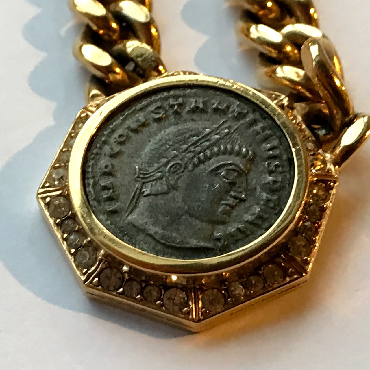 roman gold necklace vintage haute fine ancient jewelry products victoire coin pendant