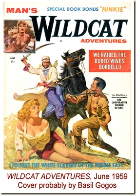 WILDCAT ADVENTURES, June 1959. Basil Gogos cover