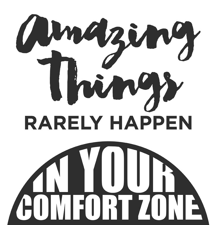 Amazing Things Rarely Happen In Your Comfort Zone Quote.