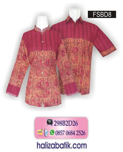 FSBD8 Gambar Model Batik, Baju Batik Modern, Batik Sarimbit, FSBD8