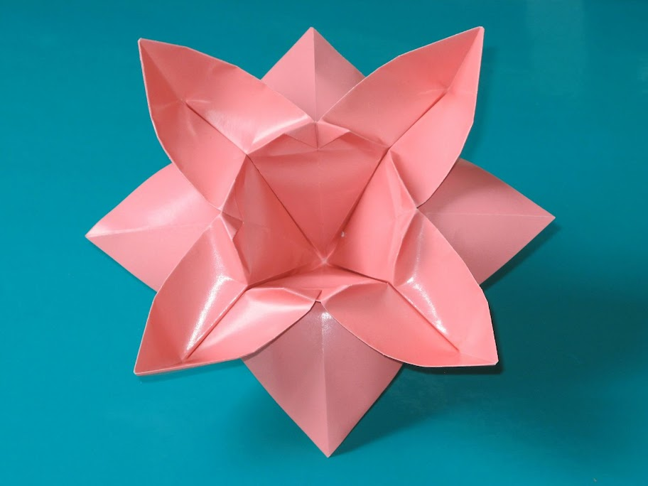 Origami foto Fiore ad otto petali - Flower with eight petals by Francesco Guarnieri