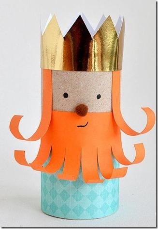 Reyes Magos de tubo de higiénico