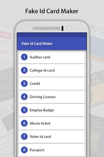 Download Fake ID Card Generator Google Play softwares