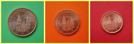 5 2 y 1 céntimos de España