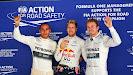 Top 3 qualifiers Lewis Hamilton, Sebastian Vettel & Nico Rosberg