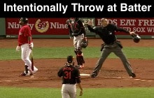 Intentionally Throwing at a Batter