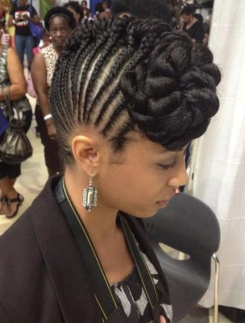 Pretty Natural Hair Mohawk Hairstyles for Black Women 6