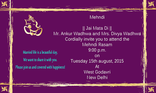 Hindu Wedding Invitation Cards Free Android App Market
