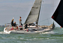 J/92s girls sailing fast on Solent, UK in Women's Open Keelboat Regatta